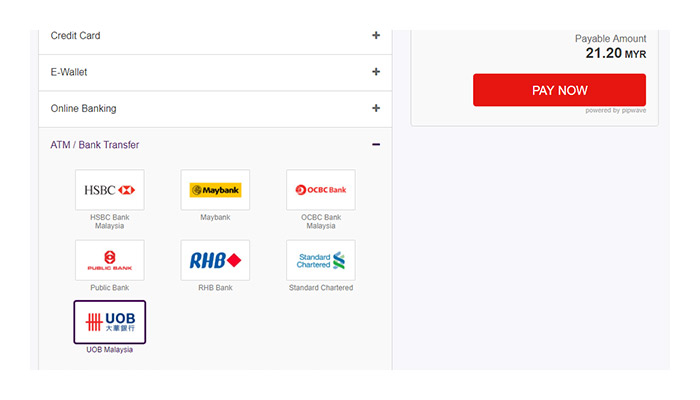 Checkout With Uob Malaysia 3rd Party Transfer G2g Payment Guide